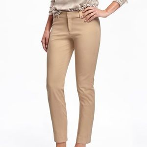 Old Navy Plus Size Beige Pixie Mid Rise Ankle Pant
